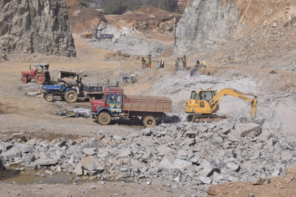 Prohibitory order to stop illegal quarry