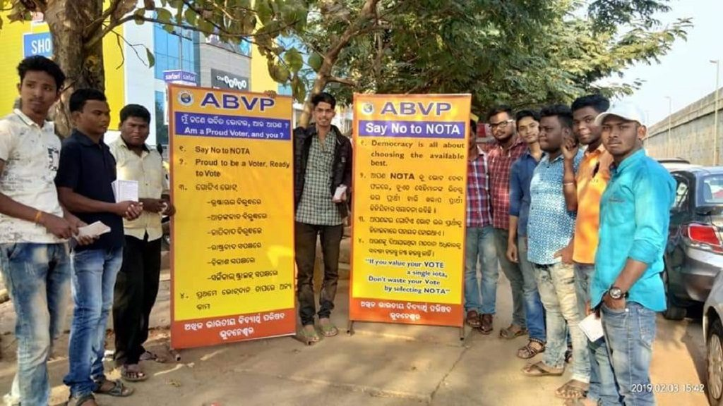 ABVP kindles ' Say No to NOTA' campaign in Odisha