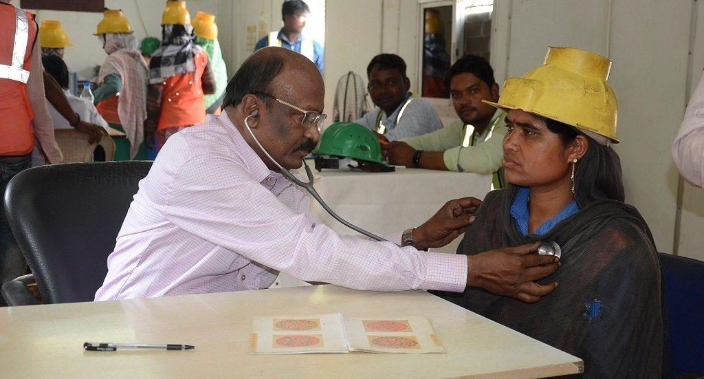 Free health camp for Rourkela steel plant laborers