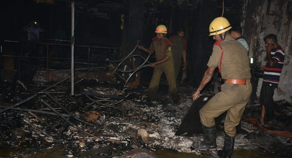 Shopping mall gutted in Cuttack