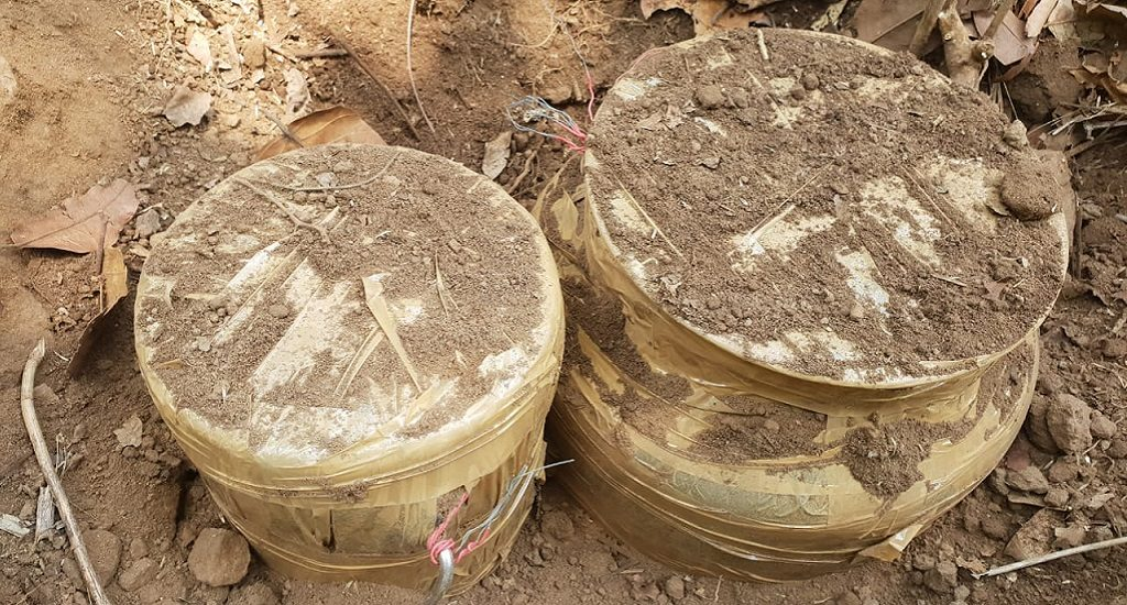 Old landmines detected and defused inside forest: Police