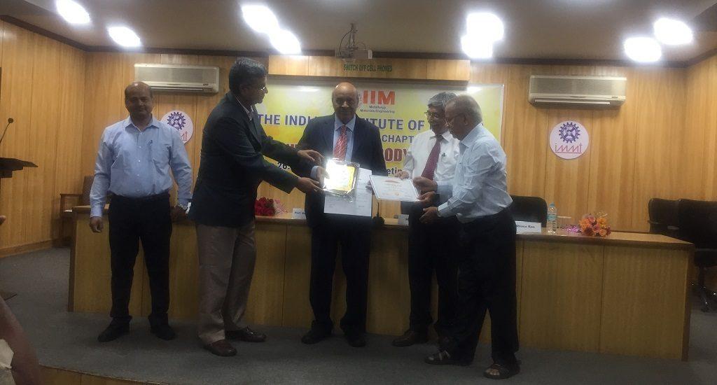 SOA research professor gets RP Das Memorial Award