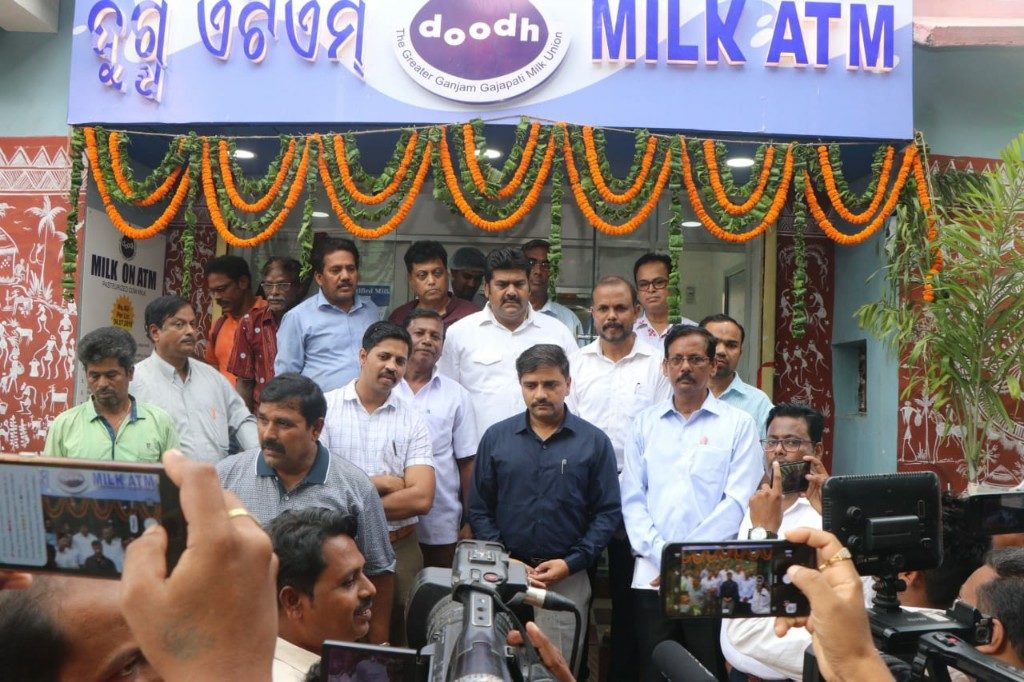 Now buy milk with smart card from ATM in Berhampur