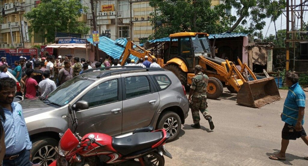 Encroachers evicted from capital city