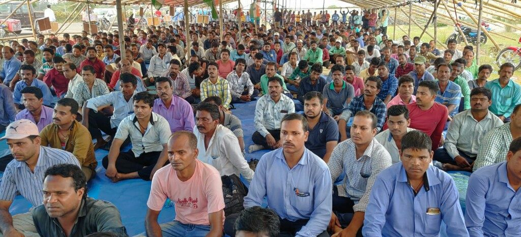 IOCL workers protest against contract agencies