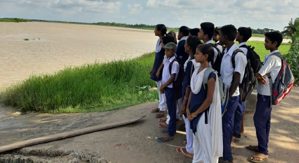 Catch 22 for kids who cross croc-infested creek to reach school