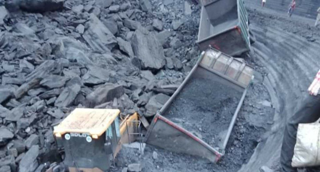 Accident in Bharatpur open cast mine, 4 workers feared dead