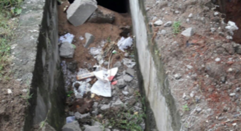 Construction debris clog drains, sewerage overflows in residential areas