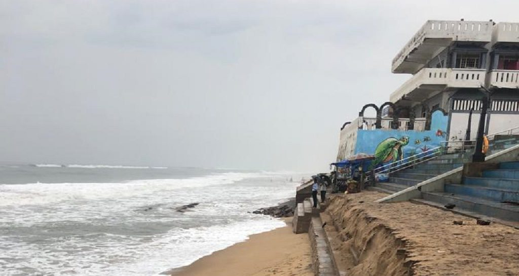 Over 27 houses collapse in Ramayapatna due to erosion by the sea