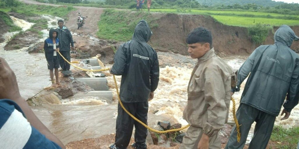 Bravehearts save stranded villagers from surging flood waters