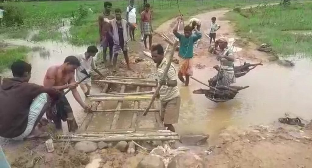 While authorities waited for funds, villagers built the bridge in two hours