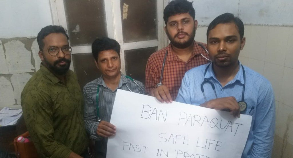 Senior resident doctors observe token fast to demand a ban on paraquat