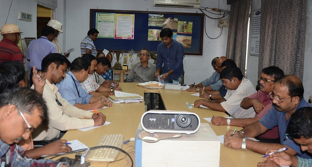Officials and staff of Rourkela Steel Plant celebrate Hindi fortnight