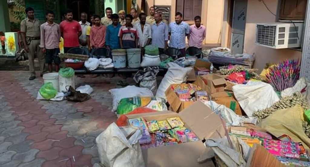 Huge cache of firecrackers, explosives seized ahead of Diwali