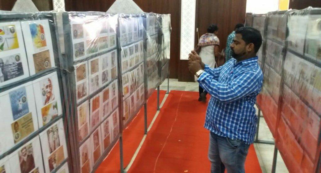 Philatelic exhibition on Gandhi held in Kendrapara Town Hall