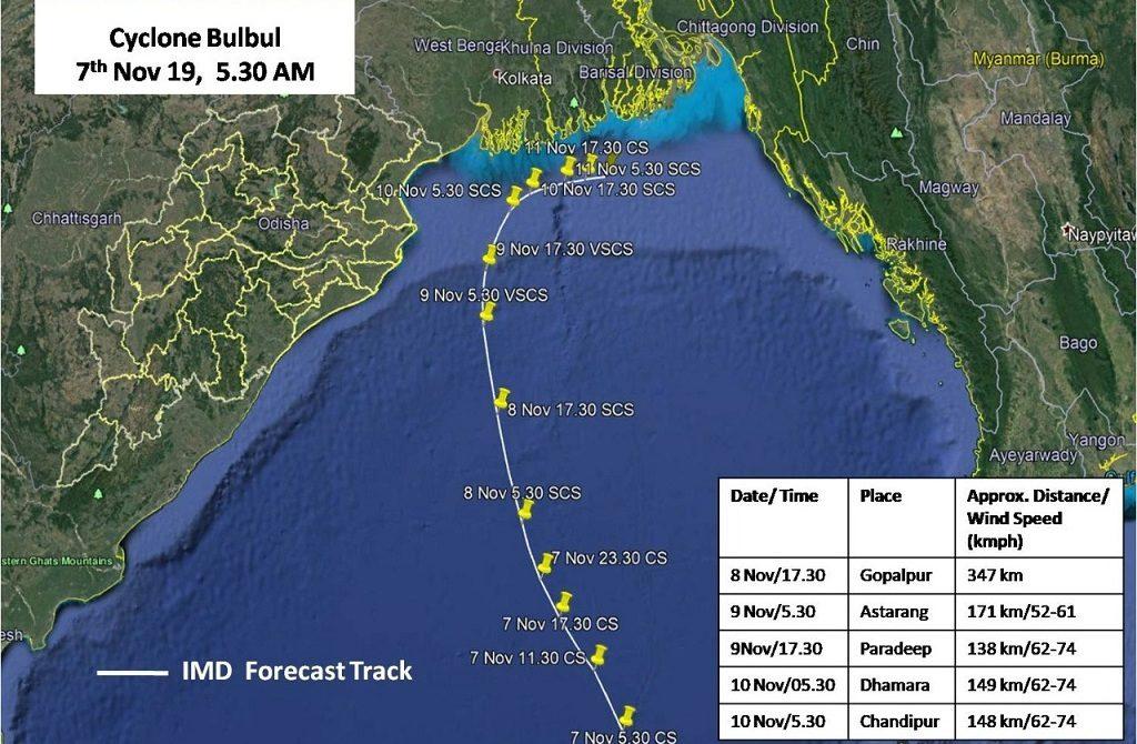 Cyclone Bulbul to spare Odisha, may head to West Bengal and Bangladesh