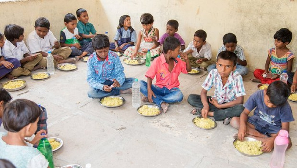 Women self help groups to manage mid-day meals
