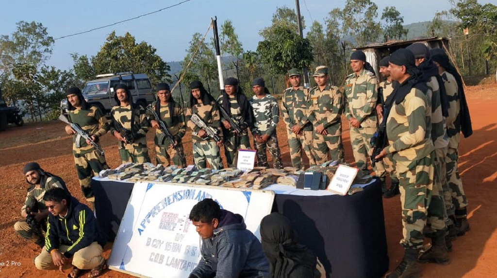 BSF seizes unaccounted cash from car, two held
