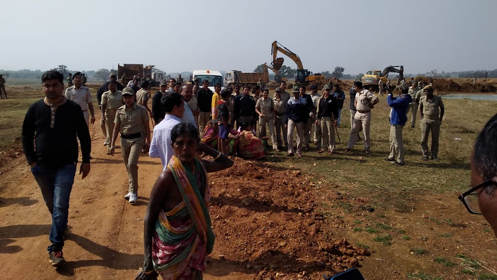 Tribals opposing railway line construction attempt mass suicide