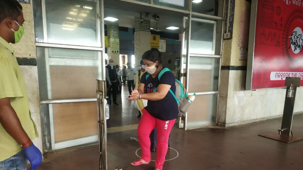 Touchless sanitizers, coach disinfections marked new train journey