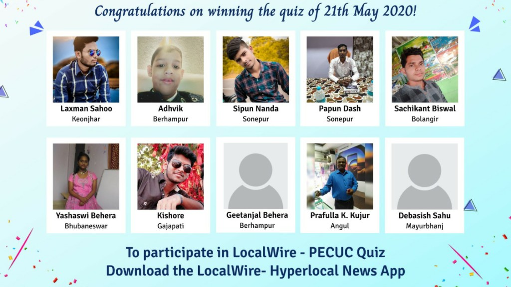 Winners of Today's PECUC-LocalWire Quiz Contest
