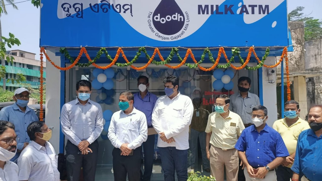 Two milk ATMs set up at MKCG Medical College