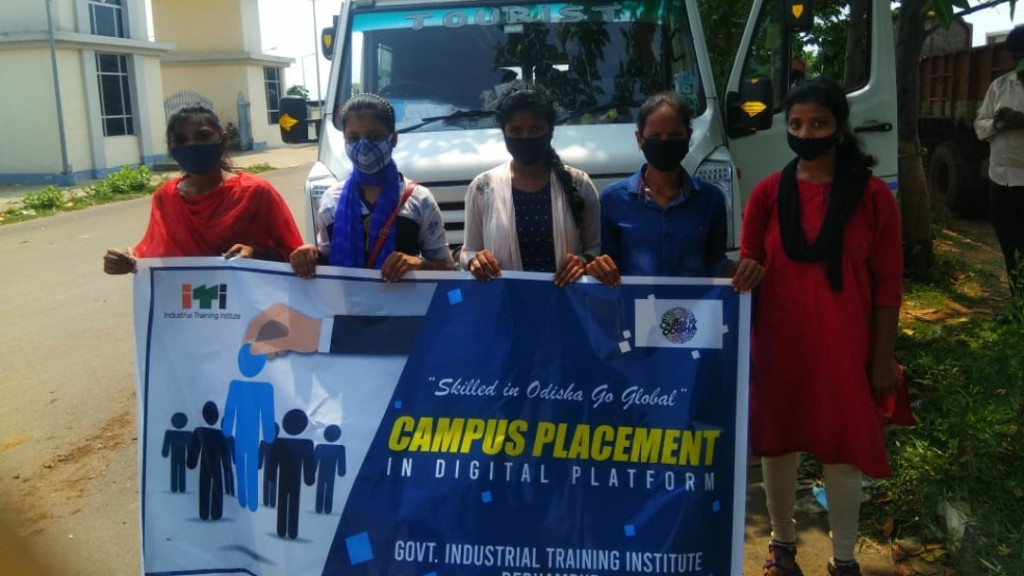 ITI students secure jobs through online campus placement